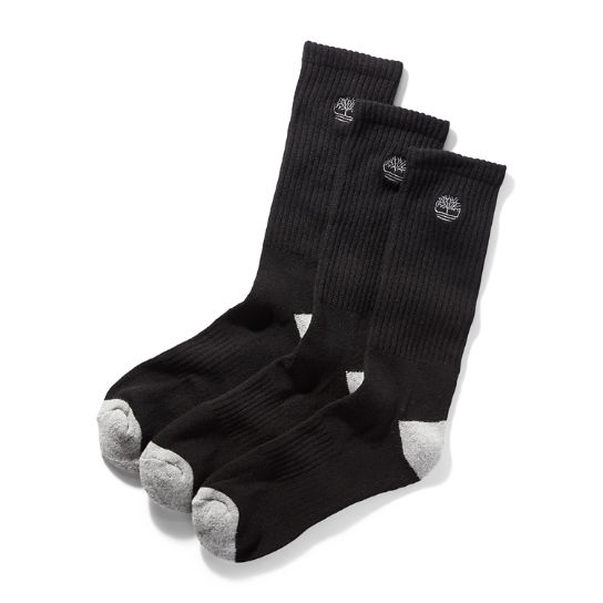 Merino Crew Socks for Men in Black | Timberland