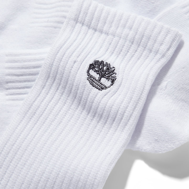 Three Pair Sagamore Beach Socks for Men in White-