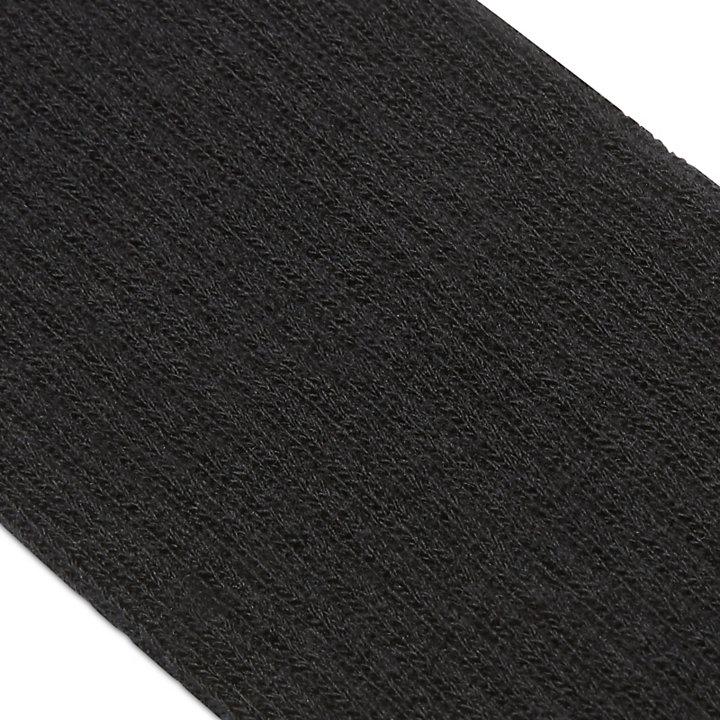 Chaussettes à bords côtelés pour homme en noir-