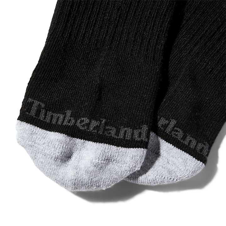 Two Pair Ridgevale No Show Socks for Men in Black-