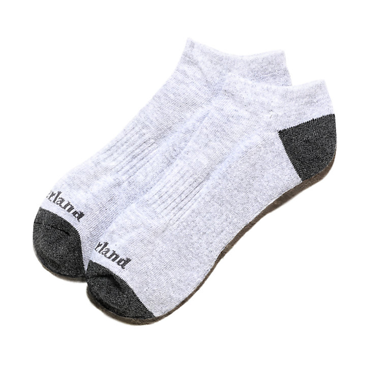 Two Pair Ridgevale No Show Socks for Men in Grey-