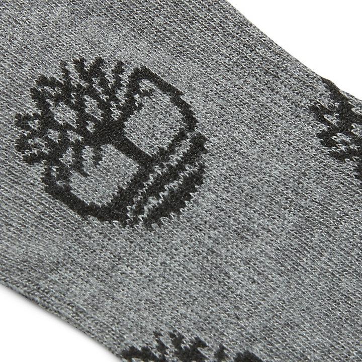 Crew-Socken mit Logodesign für Herren in Grau-