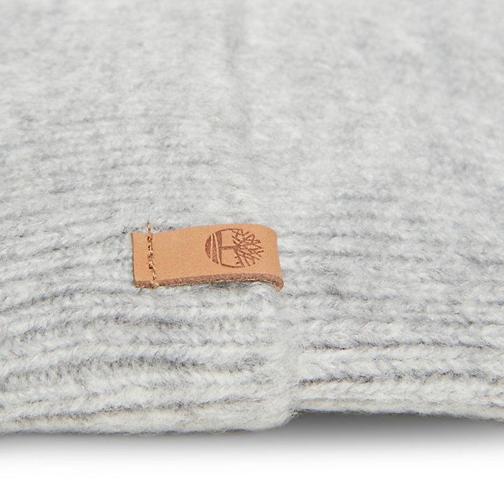 Gebürstete Bommelmütze für Damen in Grau-