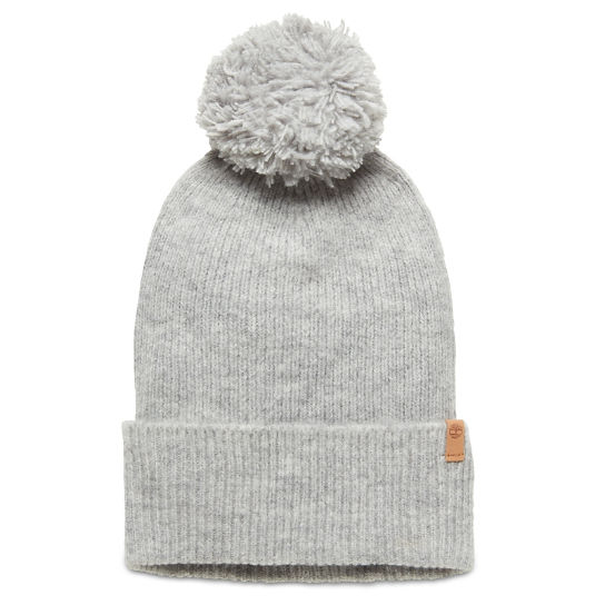 Brushed Pom-Pom Beanie for Women in Grey | Timberland