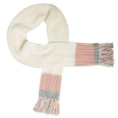 Colour-Block+Muffler+for+Women+in+White