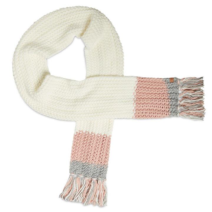 Écharpe color-block pour femme en blanc-