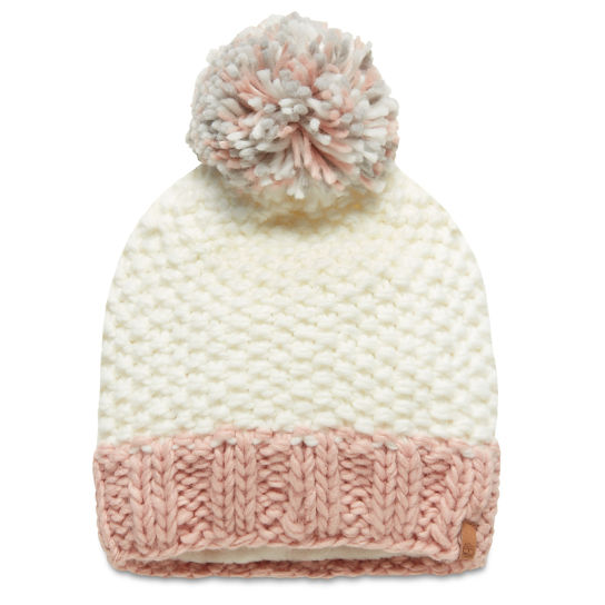 Pompon Beanie voor Dames in Wit | Timberland