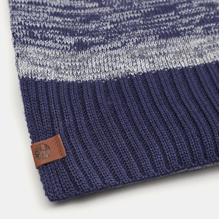 Marled Scarf for Men in Blue-