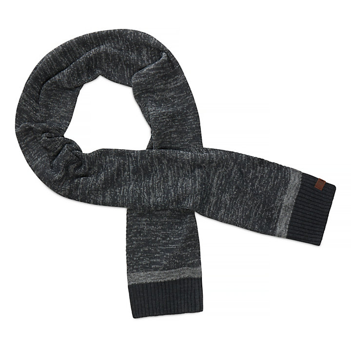 Marled Scarf for Men in Grey-