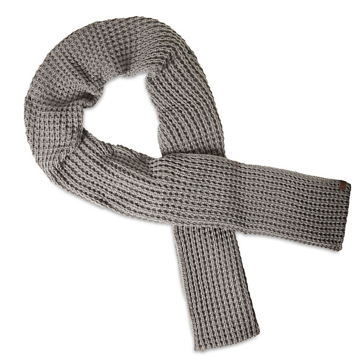 Muffler for Men with Waffle Stitch in Grey-