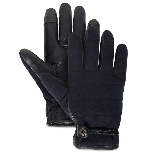 Leather and Wool Gloves for Men in Navy | Timberland