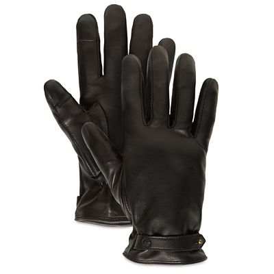 Leather+Touchscreen+Gloves+for+Women+in+Black