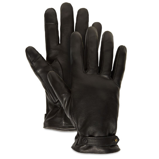 Leather Touchscreen Gloves for Women in Black | Timberland