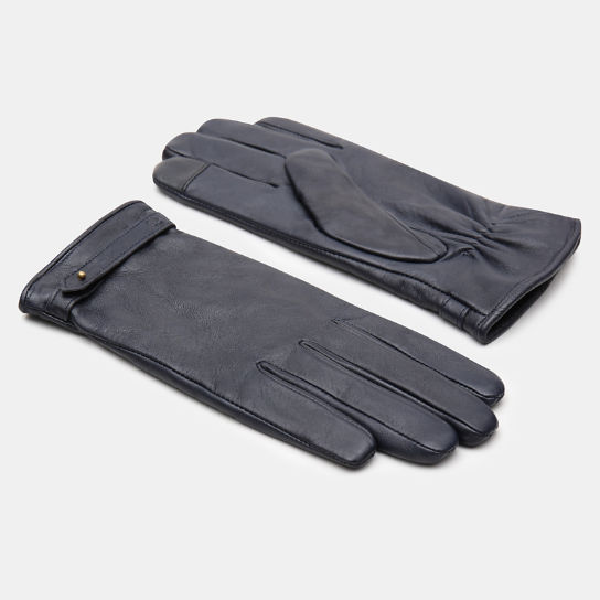 Leather Touchscreen Gloves for Women in Navy | Timberland