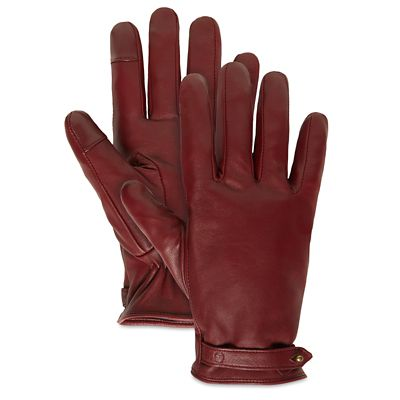 Leather+Touchscreen+Gloves+for+Women+in+Burgundy