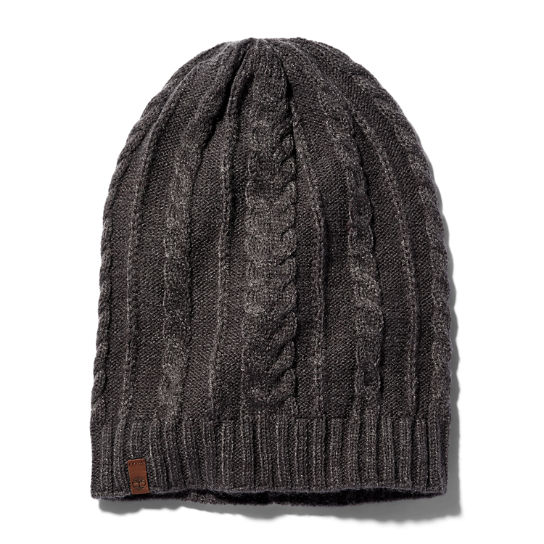 Cable Knit Slouchy Beanie for Women in Grey | Timberland