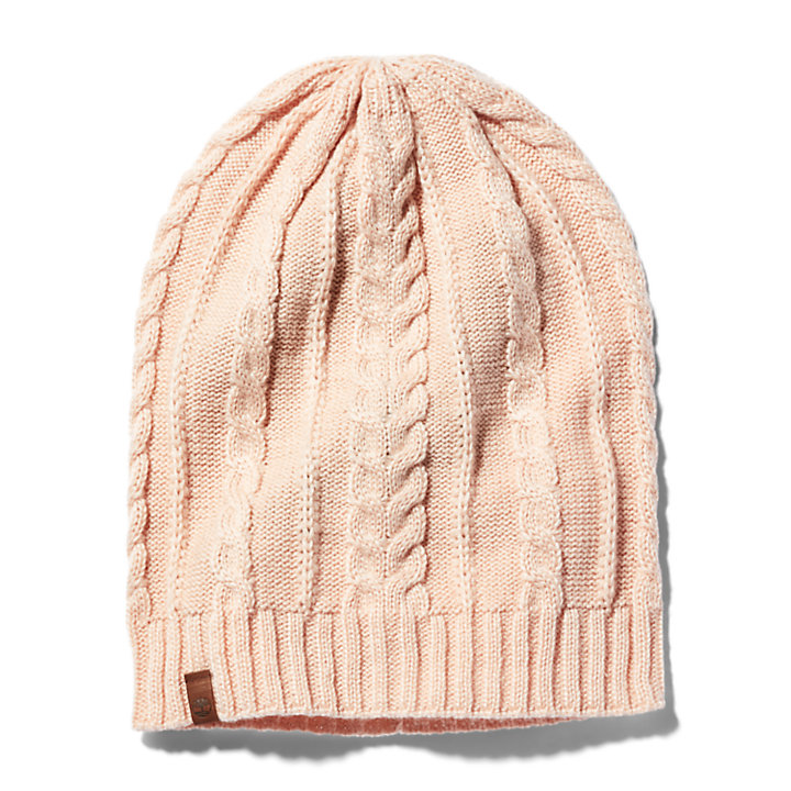 Lightweight Slouchy Beanie for Women in Pink-