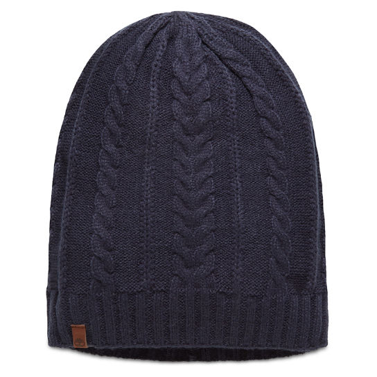 Cable Knit Slouchy Beanie for Women in Navy | Timberland