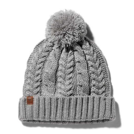 Cable-knit Beanie Hat for Women in Grey | Timberland