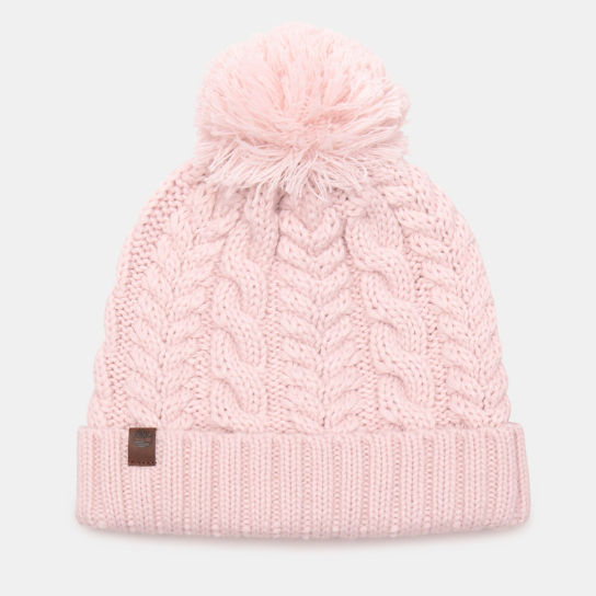 Cable Pom-Pom  Watch Cap for Women in Pink | Timberland