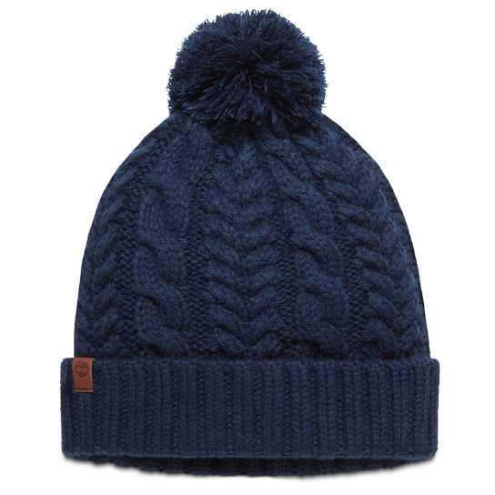 Cable Pom-Pom  Watch Cap for Women in Navy | Timberland