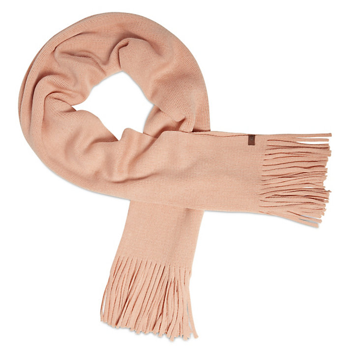 Long Brushed Scarf for Women in Pink-