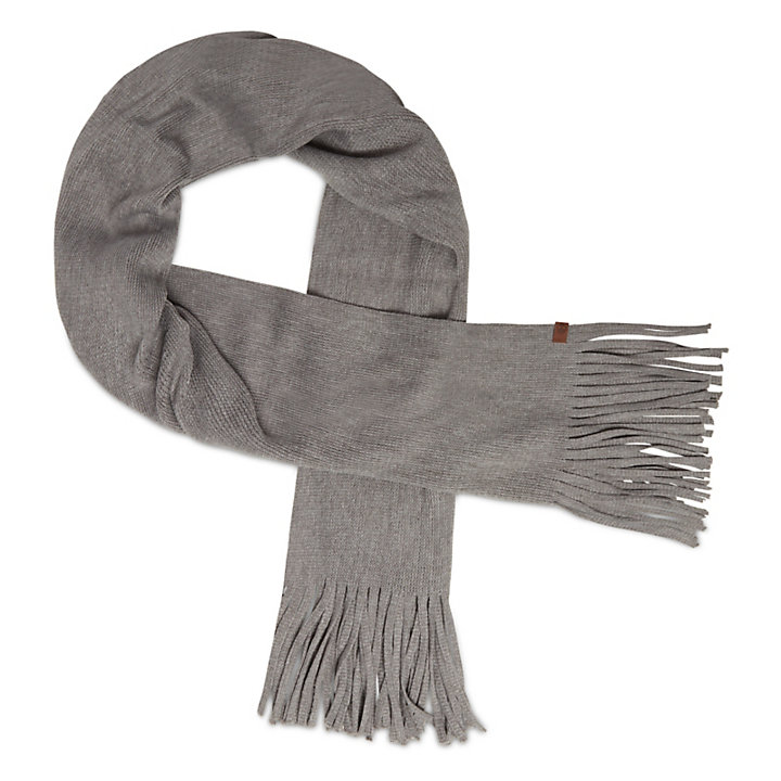 Lange Geborstelde Sjaal voor Dames in Grijs-