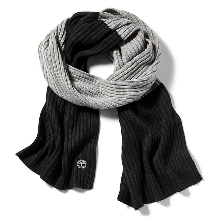 Colour Block Scarf for Women in Black-