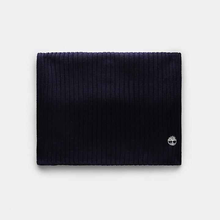 Écharpe color-block pour femme en bleu marine-