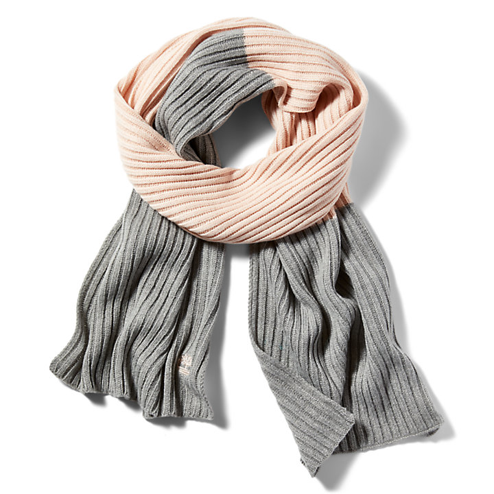 Colour-block Scarf for Women in Light Pink-