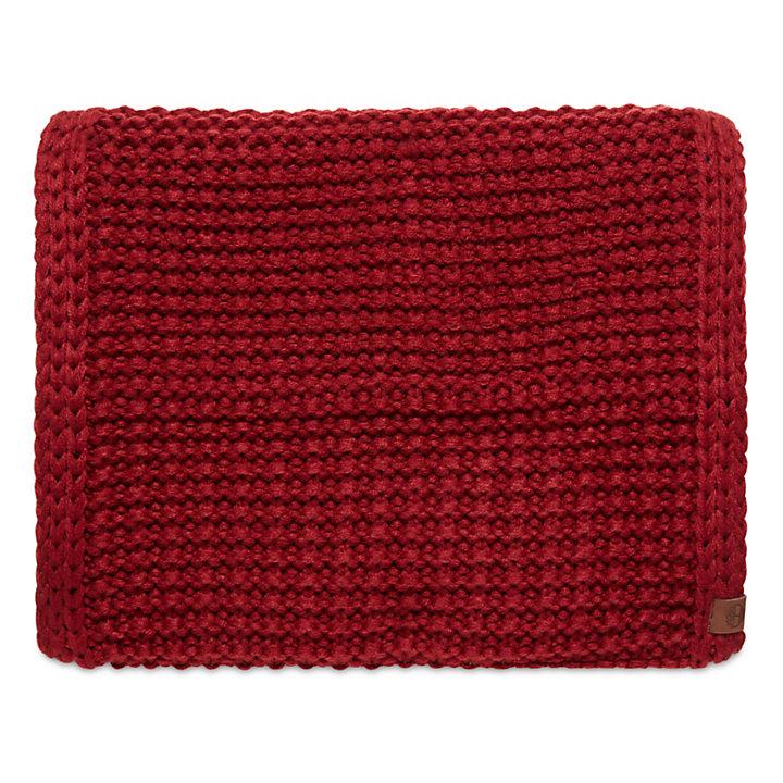 Écharpe tube réversible pour femme en rouge-