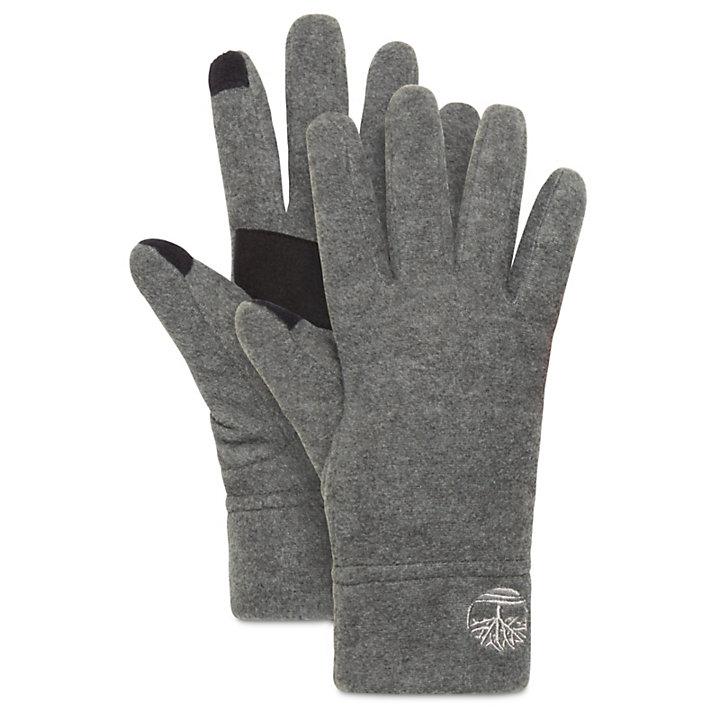 Fleece Touchscreen Gloves for Women in Grey-