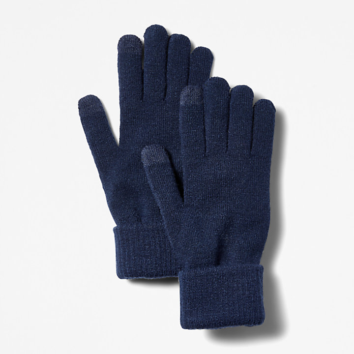 Touchscreen Gloves for Men in Navy-