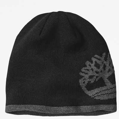 Reversible+Tree-logo+Beanie+for+Men+in+Black