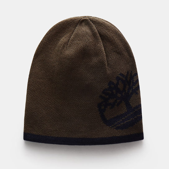 Reversible Tree Beanie for Men in Green | Timberland