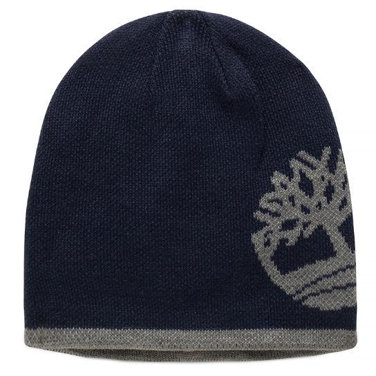 cb1b990e7ec78 Reversible Beanie Hat for Men in Navy