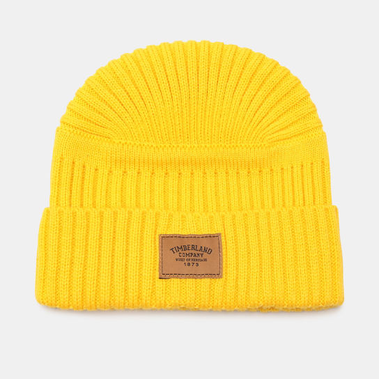 Gulf Beach Ribbed Beanie for Men in Yellow | Timberland