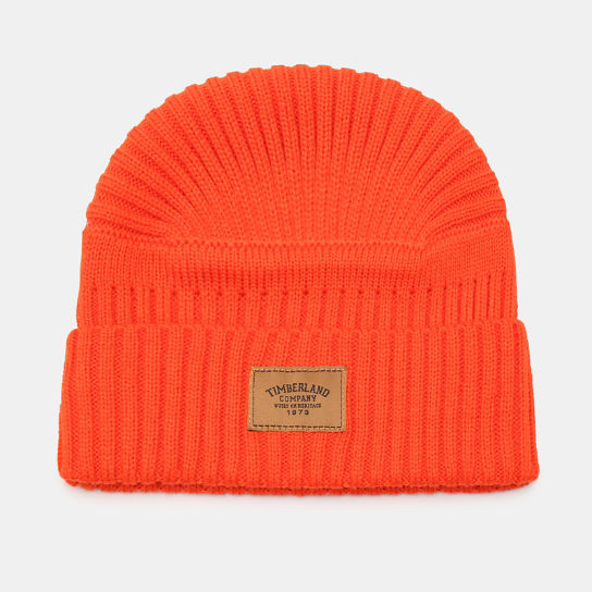 Gulf Beach Ribbed Beanie for Men in Orange | Timberland