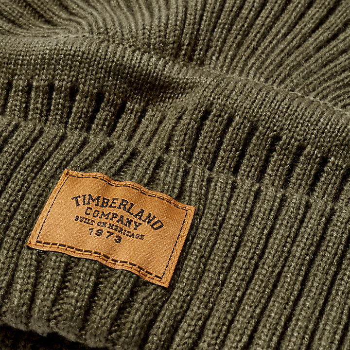 Gulf Beach Ribbed Beanie voor Heren in lichtbruin-