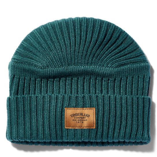 Gulf Beach Ribbed Beanie for Men in Blue | Timberland