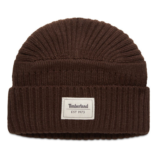 Gulf Beach Ribbed Beanie for Men in Brown | Timberland