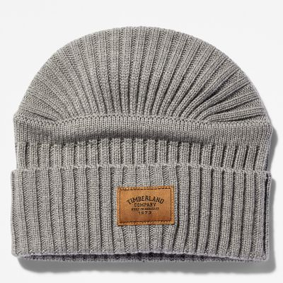 Gulf+Beach+Ribbed+Beanie+for+Men+in+Light+Grey