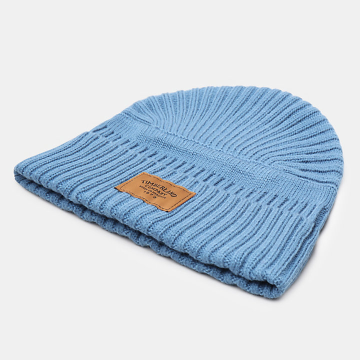 Gulf Beach Ribbed Beanie voor Heren in lichtblauw-