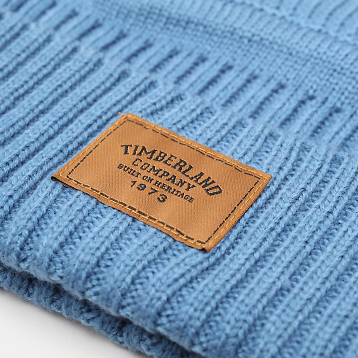 Gulf Beach Ribbed Beanie for Men in Light Blue-