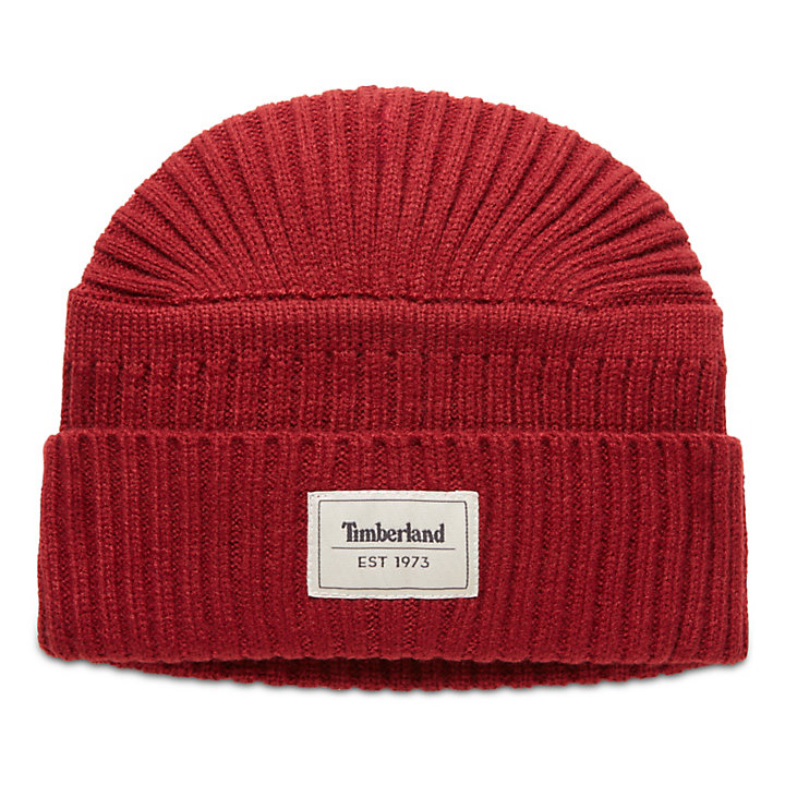51d113f4 Gulf Beach Ribbed Beanie for Men in Red | Timberland
