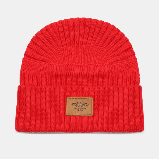Gulf Beach Ribbed Beanie for Men in Red | Timberland