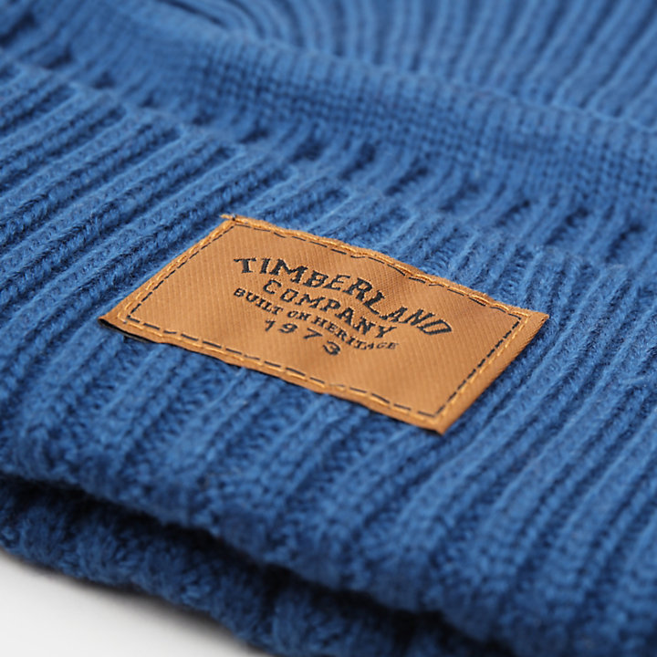 Gulf Beach Ribbed Beanie for Men in Teal-