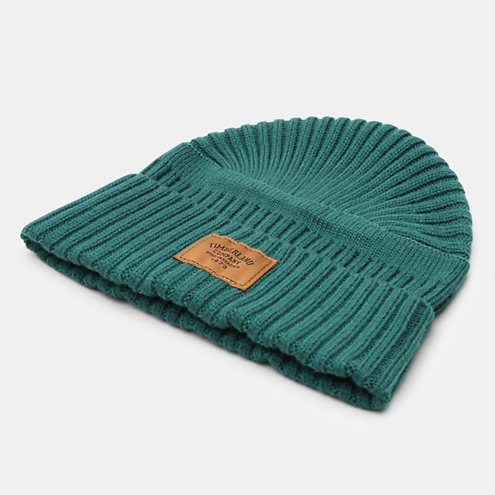 Gulf Beach Ribbed Beanie voor Heren in groen-