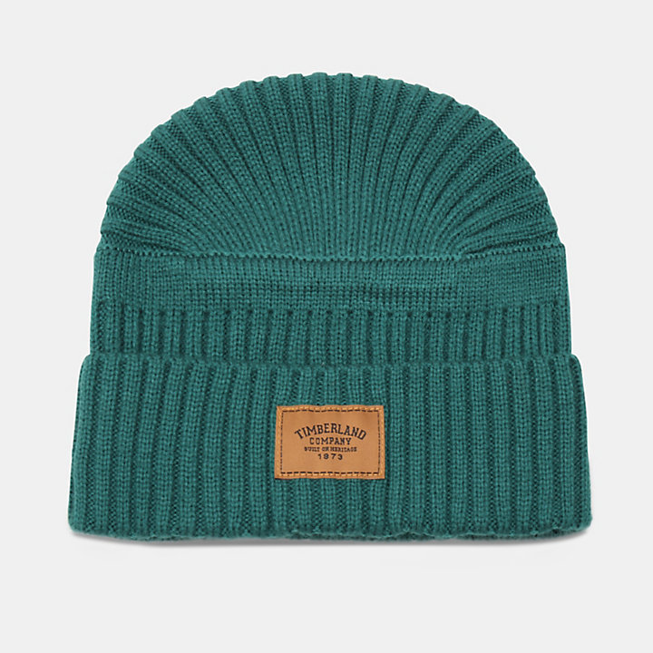 Gulf Beach Ribbed Beanie for Men in Green-