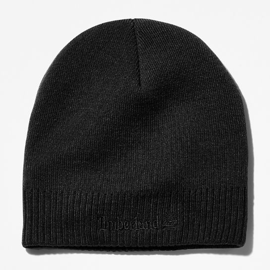 Knitted Logo Beanie for Men in Black | Timberland